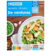 Menestra de verduras EROSKI, bandeja 300 g