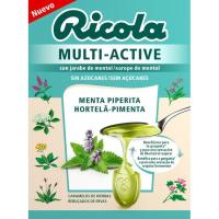 Caramelos multiactive de menta RICOLA, caja 1 ud.