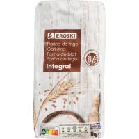 Harina de trigo integral EROSKI, paquete 1 kg