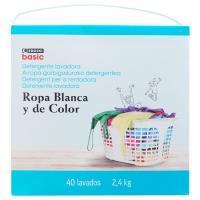 Detergente en polvo EROSKI basic, maleta 40 dosis
