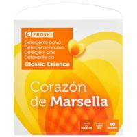Detergente en polvo Marsella EROSKI, maleta 40 dosis