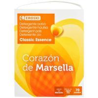 Detergente en polvo Marsella EROSKI, maleta 70 dosis
