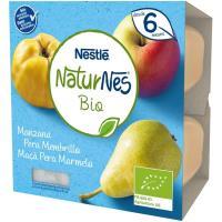 Tarrina de manzana-pera-membrillo bio NESTLÉ, pack 4x90 g