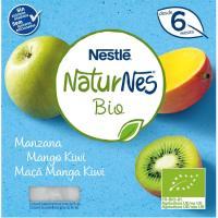 Tarrina de manzana-mango-kiwi bio NESTLÉ, pack 4x90 g