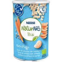 Snack de cereales-zanahoria bio NESTLÉ Nutripuffs, bote 35 g
