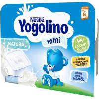 Yogolino mini natural NESTLÉ, pack 6x60 g