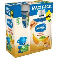 Bolsita de plátano-manzana NESTLÉ, pack 4x90 g