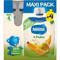 Bolsita 4 frutas NESTLÉ, pack 4x90 g