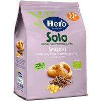 Snack ecológico de lentejas-maíz HERO, bolsa 50 g
