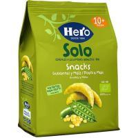 Snack ecológico de guisantes-maíz HERO, bolsa 50 g
