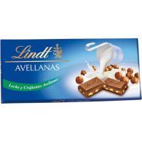 Chocolate con leche-avellanas LINDT, tableta 110 g