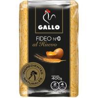 Fideo nº0 al huevo GALLO, paquete 400 g