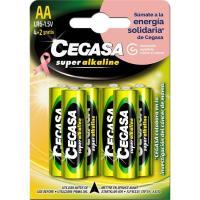 Pila super alcalina Asociación Española contra el cancer LR06(AA) CEGASA, 4+2 uds