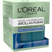 Mascarilla arcilla azul L`OREAL Dermo Expertise, tarro 50 ml