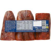 Surtido de lomo-chorizo-salchichón EROSKI Maestro, sobre 700 g