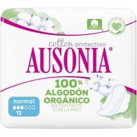 Compresa normal con alas AUSONIA  Naturals, paquete 12 uds.