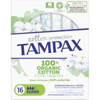 Tampón super TAMPAX Naturals, caja 16 uds.