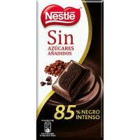Chocolate 85% negro intenso sin azúcar NESTLÉ, tableta 125 g
