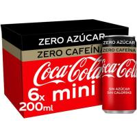 Refresco de cola COCA COLA Zero Zero, pack 6x20 cl