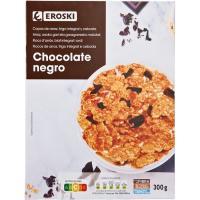 Copos integrales de chocolate EROSKI, caja 300 g