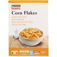 Corn flakes EROSKI basic, caja 500 g
