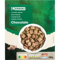 Cereales rellenos de chocolate EROSKI, caja 500 g