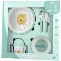 Set vajilla leon, incluye plato llano,cuenco, cuchara, tenedor y taza INTERBABY