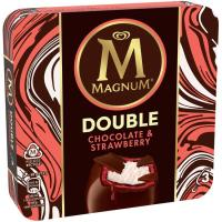 Helado double de nata&fresa MAGNUM pack 3x88 ml