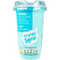 Café light EROSKI, vaso 250 ml