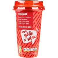 Café descafeinado EROSKI, vaso 250 ml