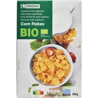 Corn flakes bio EROSKI, caja 500 g