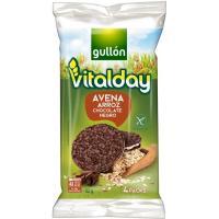 Tortitas de arroz-avena-chocolate negro VITALDAY, paquete 82 g