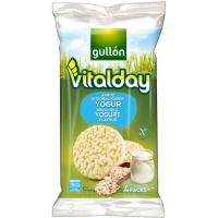 Tortitas de arroz integral-yogur VITALDAY, paquete 125,2 g