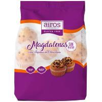 Magdalenas con pepitas de chocolate AIROS, 6 uds., paquete 210 g