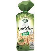 Tortitas de espelta con lentejas bio SANTIVERI, paquete 100 g