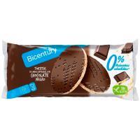 Tortita chocolate negro sin azúcar BICENTURY, bolsa 130,4 g