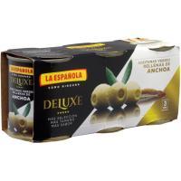 Aceitunas mini con anchoa LA ESPAÑOLA, pack 3x50 g