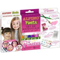 Set maquillaje Princess: 6 barras,lápiz,pincel,purpurina,pegatinas ALPINO, 1 ud