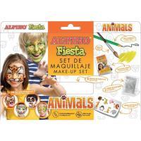 Set maquillaje Animals: 6 barras,lápiz,pincel,purpurina,pegatinas ALPINO, 1 ud