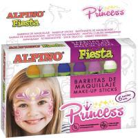 Barritas maquillaje de 5 gr, colores surtidos Princess Fiesta ALPINO, Pack 6 uds