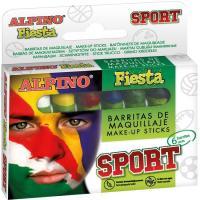 Barritas de maquillaje de 5 gr, colores surtidos Sport Fiesta ALPINO, Pack 6 uds