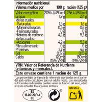 Yogur natural EROSKI basic, pack 4x125 g