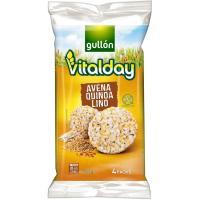 Tortitas de avena-quinoa-lino VITALDAY, paquete 115,2 g