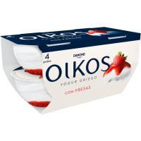 Yogur griego de fresa OIKOS, pack 4x110 g