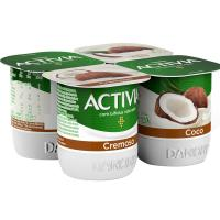 Activia cremoso de coco ACTIVIA, pack 4x120 g