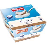 Yogur de coco PASCUAL, pack 4x125 g