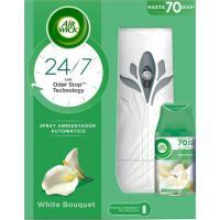 Ambientador white bouq. AIRWICK F Matic, aparato+recambio 250 ml