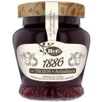 Mermelada de arándanos 1886 HERO, frasco 320 g