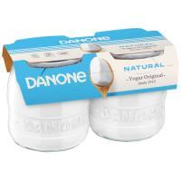 Yogur original natural enriquecido DANONE, pack 2x135 g