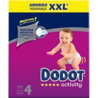Box XXL Pañal 9-14 kg Talla 4 DODOT Activity, caja 144 uds.